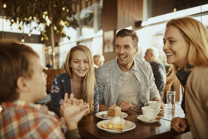 Family in a Cafe