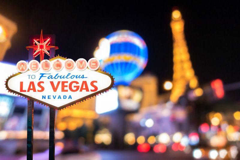 Las Vegas Sign post