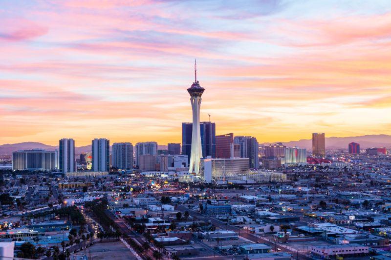 sunset city view